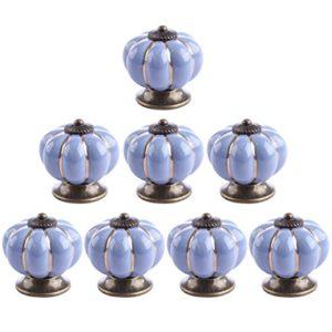 Möbelknöpfe Kürbis, WEIZQ 8St.Schrankknöpfe Vintage Porzellan Möbelknöpfe Set Möbelknauf MöbelKnopf