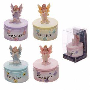 """Milchzahndose für die ersten Zähnchen """"Blumenelfe"""" für Mädchen in einer Geschenkbox"""
