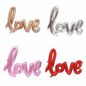 Momangel Big Love Buchstaben Folienballon Verlobungsring Hochzeit Valentinstag Party Dekore