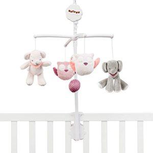 Nattou Mobile mit Musik für Babybett, Mädchen, rosa – Charlotte und Rose
