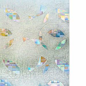 rabbitgoo 3D Fensterfolie Selbstklebend Sichtschutzfolie Dekorfolie