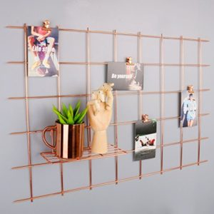 Rumcent Rose Gold Foto Rahmen Aufhängen Display, Foto Kunstwerken Prints Wand, Gitter Wandschmuck Wandtattoo für…