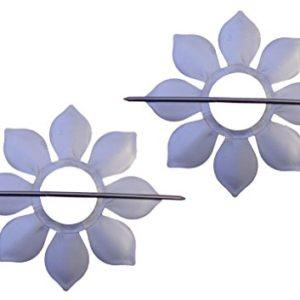 Ruco V523 Raffhalter Sonnenblume, 2-er Set, Silber