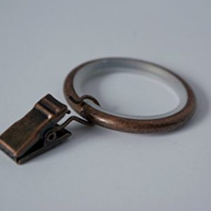 Ruhige Vorhang Ringe mit zuschneideklammer Clips Ø30 mm Antik Kupfer (10 Stück)