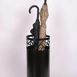 Regenschirmständer Design Fence, 49 x Ø 22,5 cm, schwarz, Marke: Szagato, Made in Germany (Schirmständer, Schirmhalter, Regenschirmhalter)