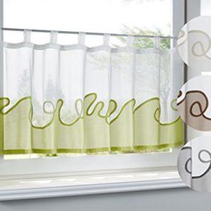 Shangrila Scheibengardine Konya Sichtschutz Dekoration Transparent Jacquard Voile Küchenfenster Modern HxB 45×140 cm…
