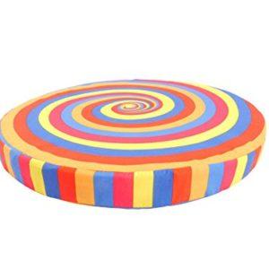 CB Home & Style Sitzkissen Dekokissen rund Farbwirbel 40 cm Durchmesser