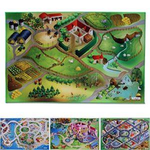 casa pura Spielmatte Auf dem Land | Bauernhof | Phthalat-frei | erweiterbar zu Einer riesigen Spiellandschaft | 100 x 150 cm