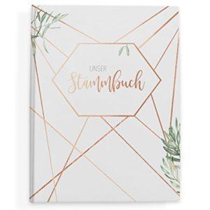 bigdaygraphix Stammbuch der Familie Familienstammbuch zur Hochzeit | 16x21cm Premium Hardcover mit GOLDFOLIE…