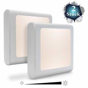 Babyliya Steckdose LED Nachtlicht mit Dämmerungssensor, Warmweiß Nachtlichter für Mitternacht Bequemlichkeit, Schlafzimmer, Kinderzimmer, Küche, Flur, 2 Stück