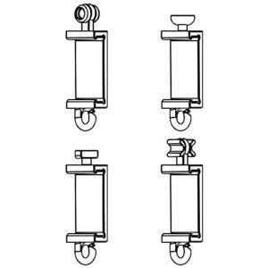 Clips Für Premium Paneelwagen mit den Maßen 25×2,5mm | Farbe weiß | zum Aufklipsen auf das Paneelwagenprofil (je Paar…