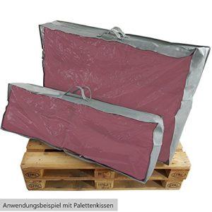 SunDeluxe Tragetasche für Palettenkissen Sitzauflagen und Rückenkissen – Aufbewahrungstasche staubdich, reißfest, abwaschbar – Schutzhülle mit Tragegriffen, Größe:Set für Sitz- und Rückenkissen