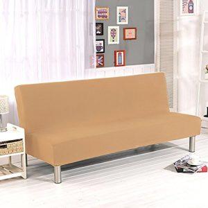 Surenhap Sofabezug ohne Armstützen, 3 Sitzer, elastischer Sofaabdeckung Stretchbezug Sofaüberwurf Sofa Cover für Sofa…