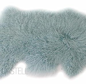 Tibet Lammfell Pastell Türkis 90×45 cm
