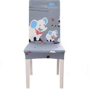 Timetries Schöne Stuhlhussen Sitzbezüge Tiere Abdrucken Stretch Stuhlbezug Stuhl-Abdeckung Dekorative Stuhlüberzug…