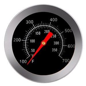 Unbekannt Barbecue Grill Raucher Grill Edelstahl Thermometer Temperaturanzeige