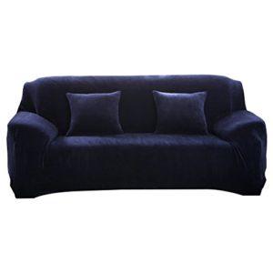 WINOMO Sofahusse 3 Sitzer Stretch Sofabezug Hohe Elastizität Couchhusse Anti rutsch für Sofa Schutz (Kaffee)