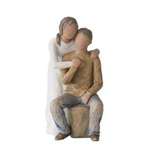 Willow Tree Caring You und Me (dunkler Haut und Haar) Figur