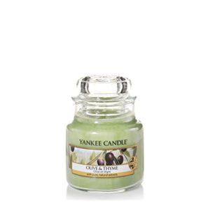 Yankee Candle Olive &Thyme Duftkerze Glas, Grün, 6.2x6x7.1 cm