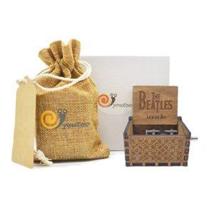 Youtoo Retro Holz Spieluhr Hand klassischen Handkurbel Musik Box für Geschenke (Beatles Melodie)