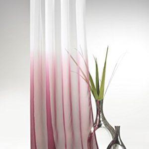 heimtexland ® Ösenschal o. Schlaufenschal m. Farbverlauf HxB 245×135 cm Voile transparent – ÖKOTEX geprüft – Gardine Vorhang Dekoschal Typ501