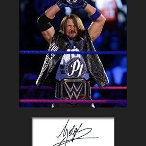 AJ Styles WWE #1 | Signierter Fotodruck | A5 Größe passend für 6×8 Zoll Rahmen | Maschinenschnitt | Fotoanzeige | Geschenk Sammlerstück