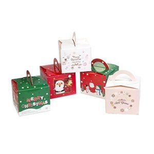Benbilry 24 Stück Weinachten Schachtel Weihnachten Geschenkbox Schachtel Xmas Geschenkbox Karton Plätzchen Kekse…