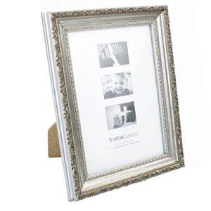 Bilderrahmen Antik Silber für Fotos 15 x 10cm mit Glasscheibe 42804