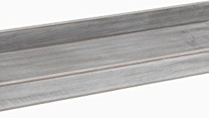CHICCIE Deko Holz Tablett 14 x 40cm – Grau Weiß Vintage Dekotablett Kerzenteller