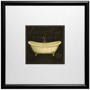 "ERGO-PAUL Framed Art Print ""Bain De Luxe II"", Paper/Cardboard/Glass/Wood, Schwarz, 32 x 32 x 1.3 cm, 1 Einheiten"