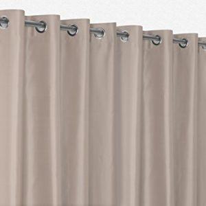 Gardinen – Vorhänge Ösenvorhang Blickdicht, Verdunkelungsgardine bügelfrei 300×245 cm Farbe wählbar, Creme