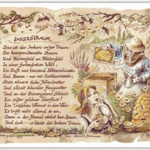 Geschenk Imker Bienenzüchter Zeichnung Color 20 x 15 cm
