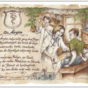 Die Staffelei Geschenk Ärztin Arzt Doktor Zeichnung Color 20 x 15 cm
