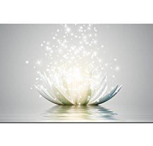 Glasbilder Wandbild AG312502078 Magic Lotus Blume 125 x 50cm / Deco Glass, Design & Handmade/Eyecatcher, Kunstdruck!