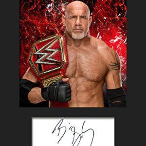 Goldberg WWE #2 | Signierter Fotodruck | A5 Größe passend für 6×8 Zoll Rahmen | Maschinenschnitt | Fotoanzeige…