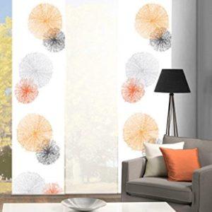 Home Fashion Set-Angebot Schiebegardinen Rawlins (SCOPPIO), Set-Größen, inkl. hochwertigem Zubehör (3, orange, 88999)