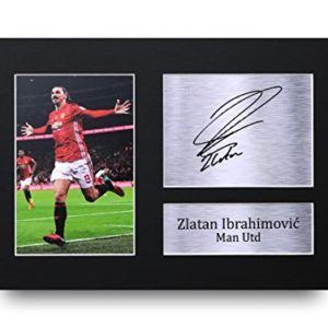 HWC Trading Zlatan Ibrahimovic A4 Ungerahmt Signiert Gedruckt Autogramme Bild Druck-Fotoanzeige Geschenk Für Manchester United Fußball Fans