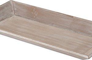 Spetebo Holz Deko Tablett im Shabby Chic Design – 60 x 21 cm – Vintage Serviertablett Kerzentablett
