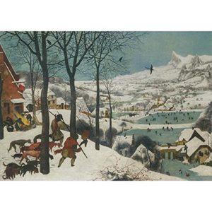 Hunters in the Snow, Pieter Bruegel der Ältere, Kunstdruckkarton für Wasserfarben, 315 g/m², Image size: 381mm x 540mm (15″ x 21.25″)