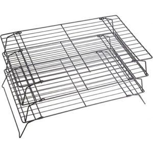KitchenCraft 3-Stöckiges Kühlgestell mit Antihaftbeschichtung in Geschenkbox, 21 x 40 cm