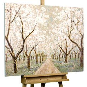 KunstLoft® Acryl Gemälde 'Allee voller Blüten' 100x75cm handgemalt Leinwand Bild