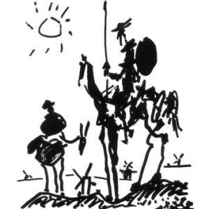 Kunstdruck 'Don Quixote, ca. 1955', von Pablo Picasso, Größe: 28 x 36 cm