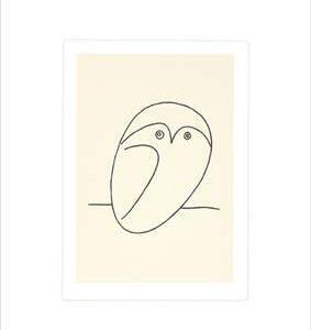 Le Hibou Kunstdruck by Pablo Picasso, 60cm x 50cm