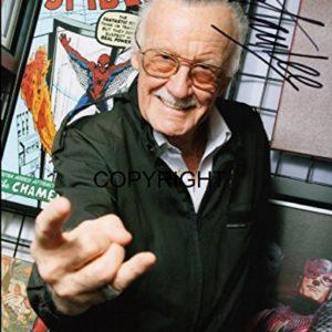 Stan Lee, signiertes Foto mit zertifiziertem, gedrucktem Autogramm, limitierte Auflage.