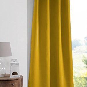 Lovely Casa Note Vorhang, Blickdicht, 140 x 280 cm, für den Außenbereich, Gelb