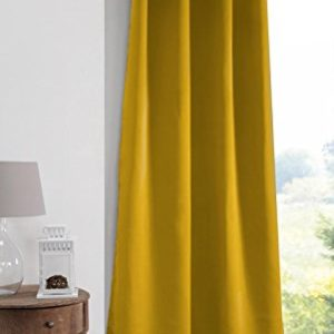 Lovely Casa Note Vorhang, Blickdicht, 140 x 280 cm, Polyester, Senfgelb