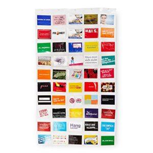 Lumaland Fotovorhang Collage für Bilder und Fotos, Hochformat mit 7 Taschen, für 10 x 15 cm Fotos