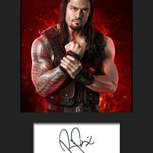 Roman Reigns WWE | Signierter Fotodruck | A5 Größe passend für 6×8 Zoll Rahmen | Maschinenschnitt | Fotoanzeige | Geschenk Sammlerstück