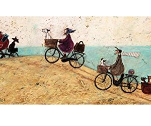 Laminiert Sam Toft Electric Bike Ride Kunstdruck 100x50cm