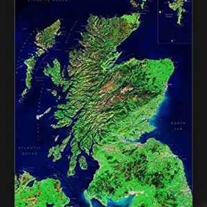 Satellitenbildkarte Schottland, Planokarte